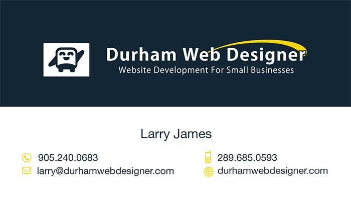 Durham Web Designer Business Card