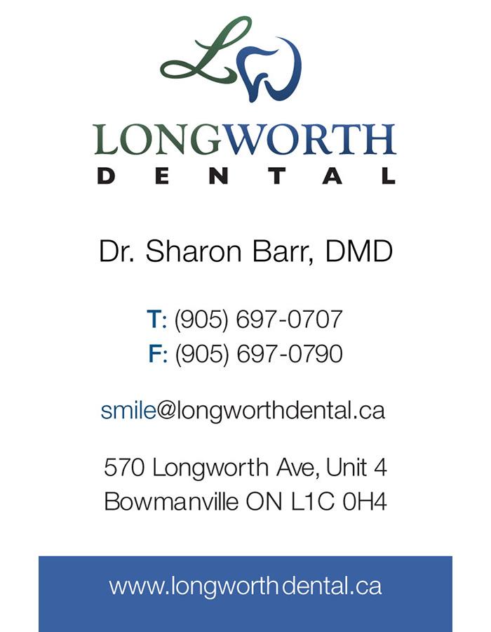 Longworth Dental Business Cardt