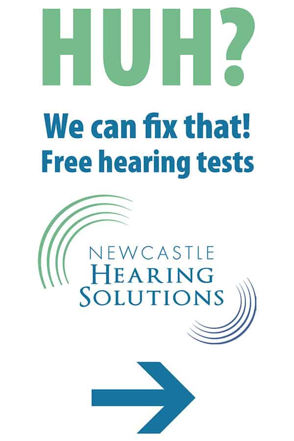Newcastle Hearing Sign